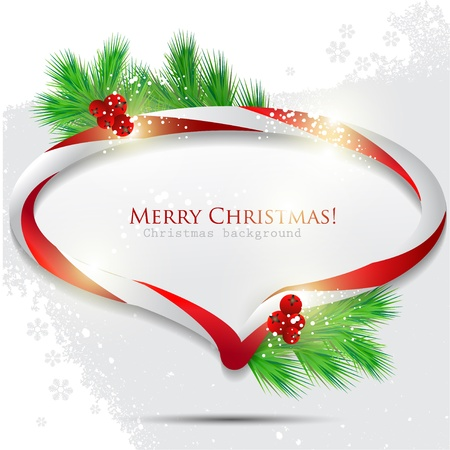 Abstract glossy speech bubble with Christmas candy. Vector background Stock Vector - 11021205