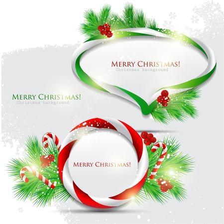 caramelos navidad: Burbuja abstracto discurso brillante con dulces de Navidad. Vector de fondo