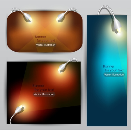 trade show: Empty placard for product advertising with lighting