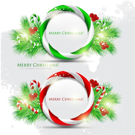 Abstract glossy speech bubble with Christmas candy. Vector background Stock Vector - 11021210