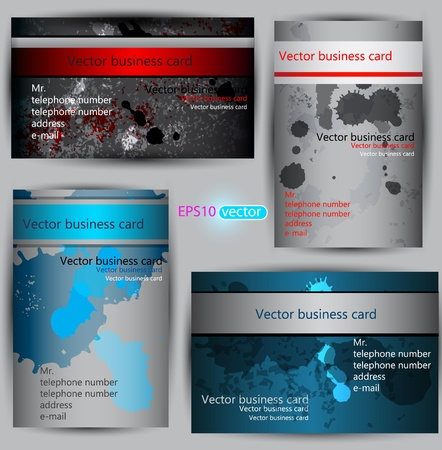 visiting card design: Set of  paper business card templates