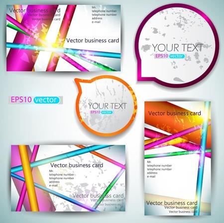 Moderne Business-Card Set Illustration