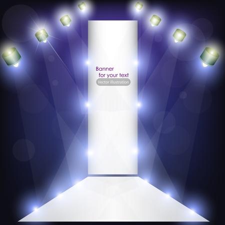 Lege podium voor product-reclame met verlichting Vector Illustratie