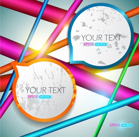 Modern speech bubbles on bright background Stock Vector - 11094754