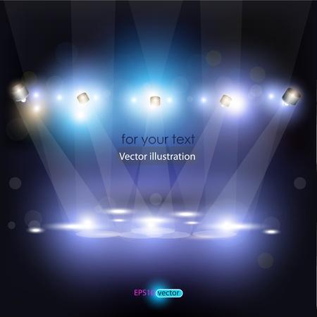 lichteffekte: Vector Szene mit funkelt