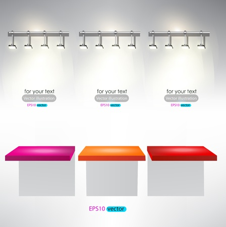 exposition: Interior for advertise products with lighting