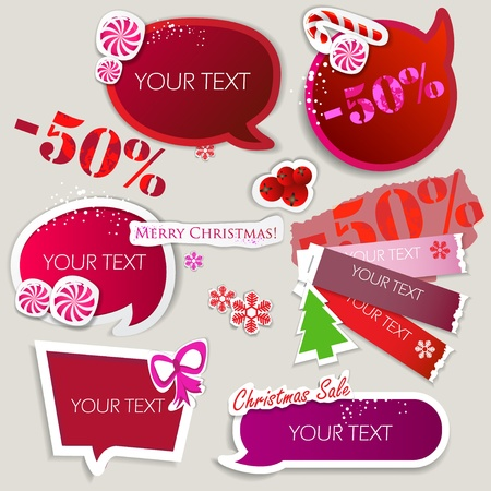 Paper bubbles for speech. Christmas Sale Vector