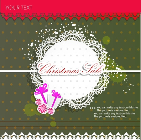 Paper bubbles for speech. Christmas Sale Stock Vector - 11154939