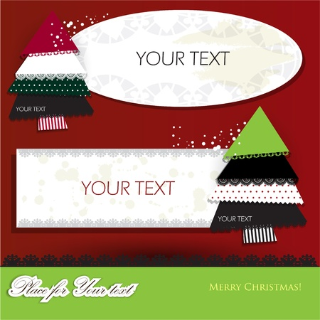 Elegant christmas background with paper bubbles Vector