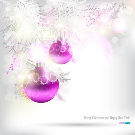christmas tree purple: Elegant Christmas background Illustration