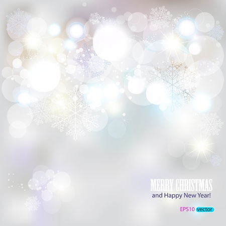 Elegant Christmas background with snowflakes and place for text. Illustration. Vector