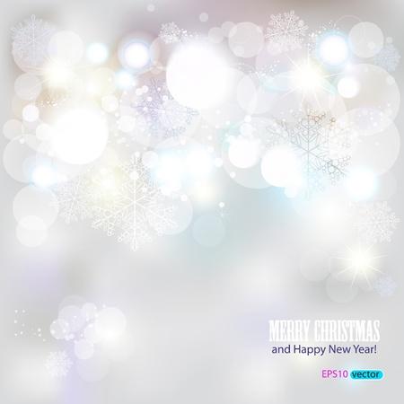Elegant Kerst achtergrond met sneeuwvlokken en plaats voor tekst. Illustratie. Vector Illustratie