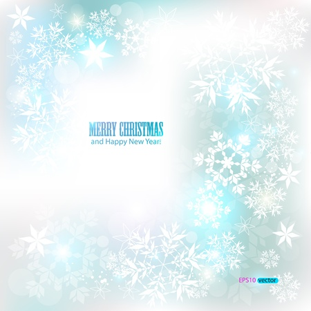 Elegant Christmas background with snowflakes and place for text. Vector Illustration. Stock Vector - 11245495