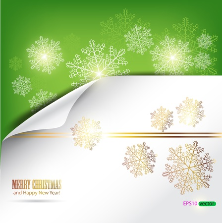 Elegant winter background with snowflakes and place for text. Vector Illustration. Vector