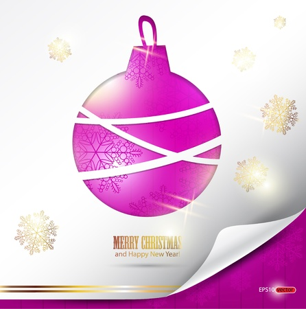 evening ball: Elegant Christmas background with evening ball. Place for text