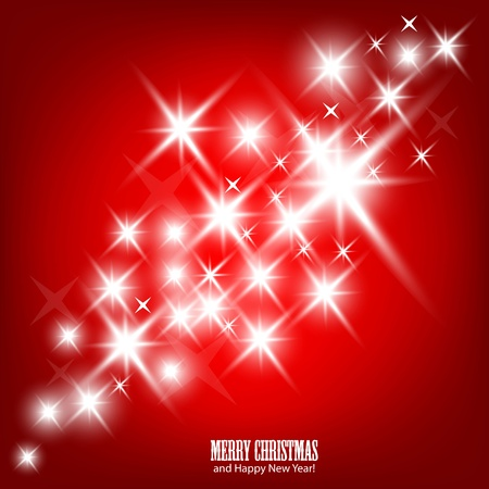 Red beautiful Christmas background. Vector