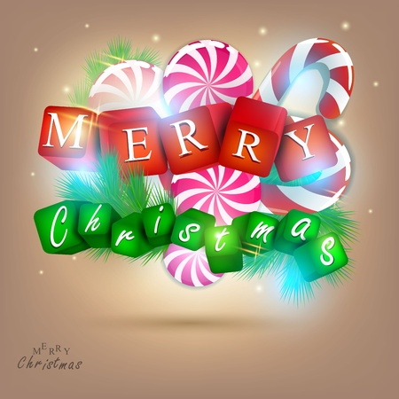 Merry  Christmas and Happy new year 2012.  Vector