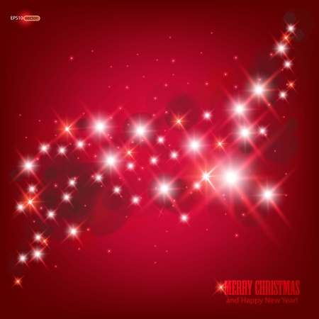 Red beautiful Christmas background. Stock Vector - 11426331
