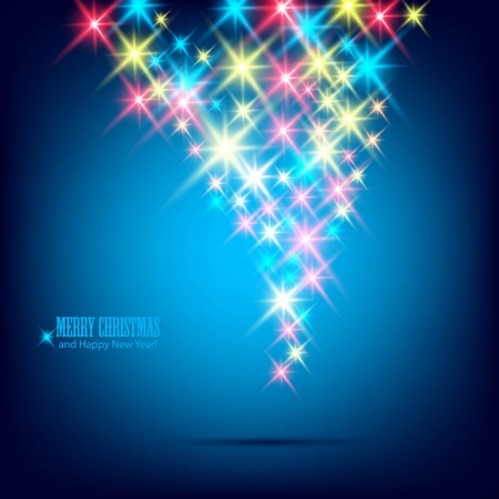 Blue beautiful Christmas background. Vector