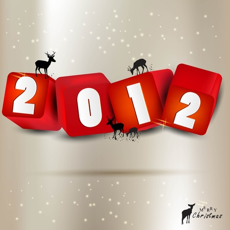 Merry Christmas and Happy new year 2012 background Vector