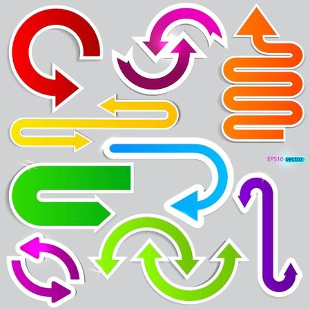 move arrow icon: Colorful arrows on grey background.