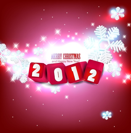 2012 Glittering  background.  Vector