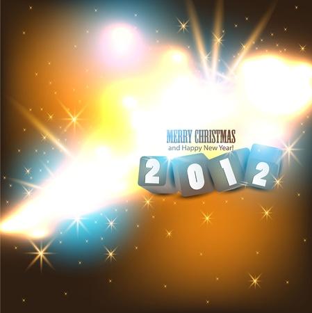 2012 Glittering  background.  Vector