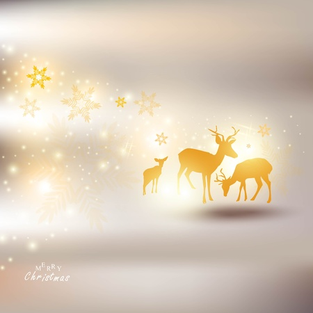 Beautiful Christmas background with reindeer and place for text. Stock Vector - 11426355