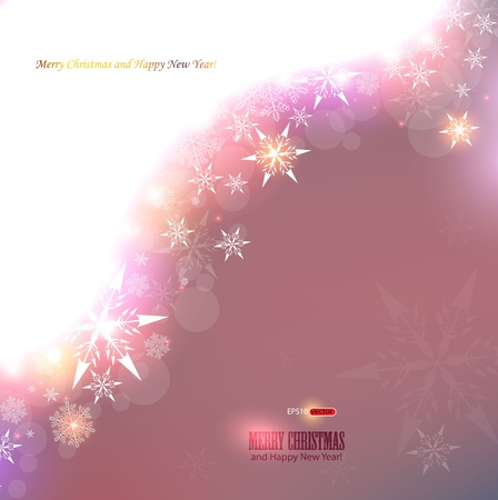 Elegant Christmas background with snowflakes and place for text. Vector Illustration. Stock Vector - 11655626