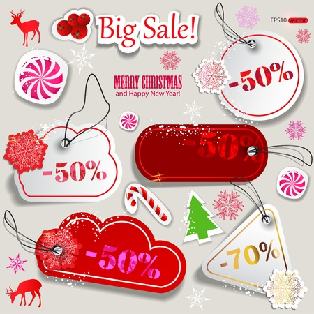 70: Christmas Sale. Paper discount coupons