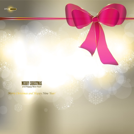 Elegant Christmas background with ribbon and place for text. Vector Illustration. Stock Vector - 11655653