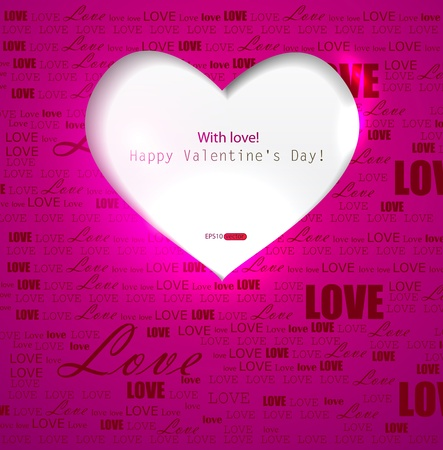 Gift card. Valentine's Day. Vector background Stock Vector - 11949759