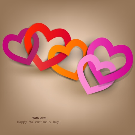 Gift card. Valentine's Day. Vector background Stock Vector - 11949745