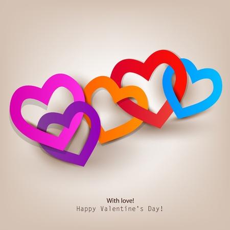 valentine: Gift card. Valentines Day. Vector background Illustration
