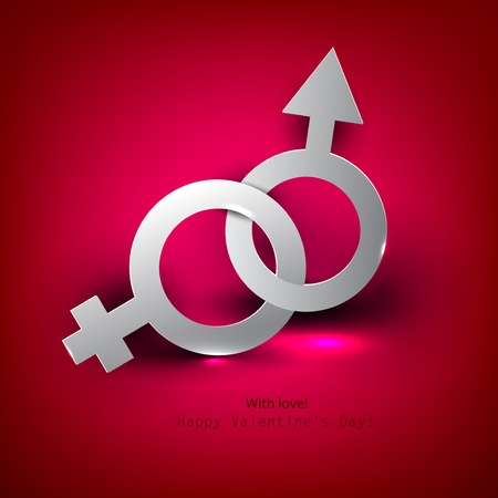 Abstract vector background with male female symbol Stock Photo - 11949750