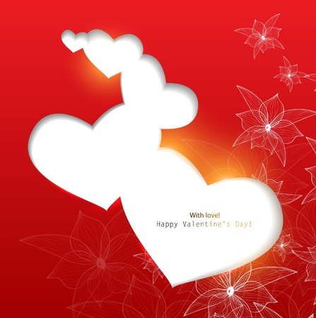 Gift card. Valentine Vector