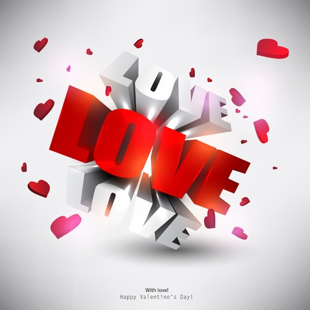 word love: 3D word  Illustration