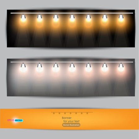 Empty placard for product advertising with lighting Stock Vector - 11988723