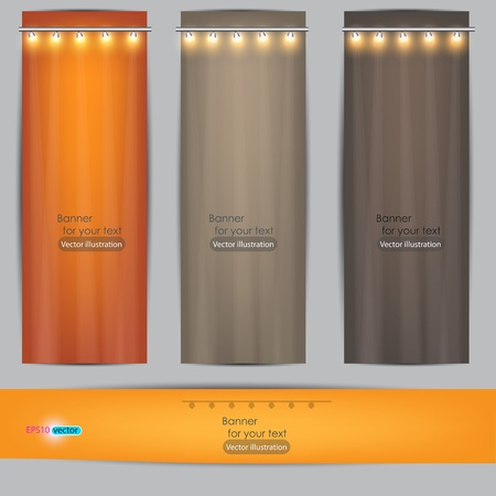 Empty banner for product advertising with lighting Stock Vector - 11988725