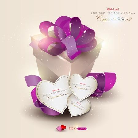 flyer background: Elegant achtergrond met cadeau-en cadeaubonnen. Vector illustratie