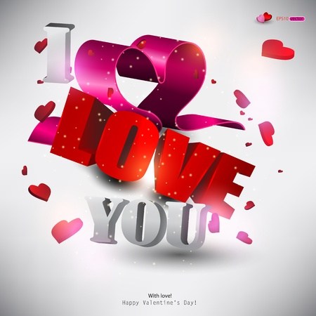 love card: 3D word  Illustration
