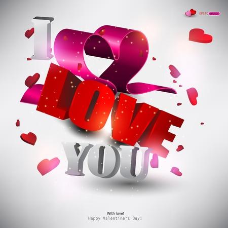 te amo: Palabra en 3D