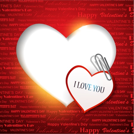 Gift card. Valentine's Day. background Vector