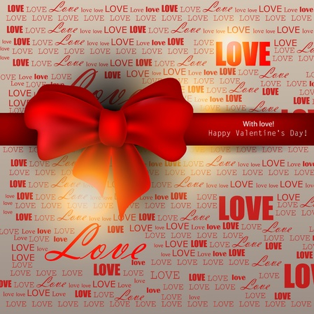Gift card. Valentines Day. background