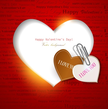 Gift card. Valentine's Day. background Stock Vector - 12075877