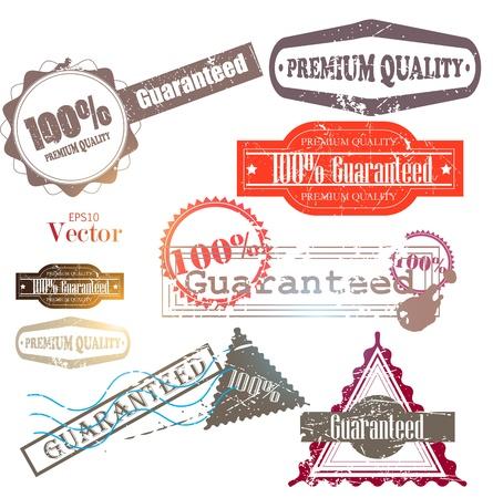 zufriedenheitsgarantie: Set von h�chster Qualit�t und Zufriedenheitsgarantie Badges, Labels, Tags. Retro Vintage-Stil Illustration