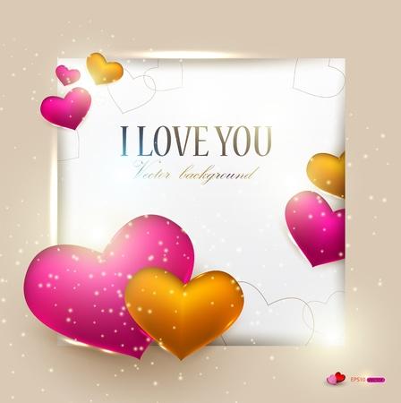 Mooie achtergrond met harten en plaats voor tekst. Valentijn