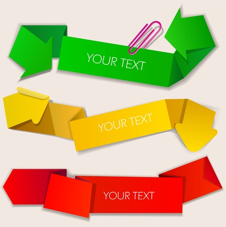 Colorful paper bubbles for speech. Arrow Vector