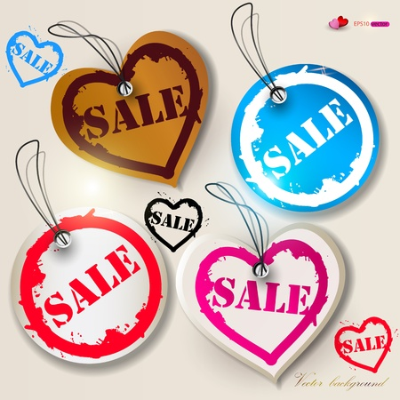 Set of bubbles, stickers, labels, tags SALE. Vector illustration Vector