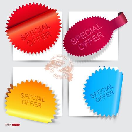 offerta speciale: Adesivi vettoriali e segnalibri Offerta Speciale